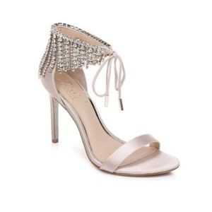 Badgley Mischka Darielle Embellished Satin shoes